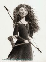 Princess Merida (Brave) by AmBr0