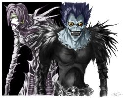 Rem and Ryuk by Watashi-ha-L