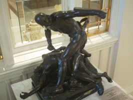 two guys fighting statue 1 by jastock