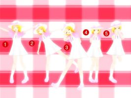 MMD-kawaii 5 poses DL by panda-len