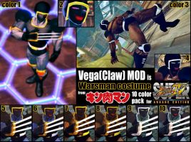 SSF4AE Vega(claw) Warsman Costume MOD by dsFOREST