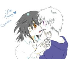 wet pocky - Gon x Killua by Wind-Empress