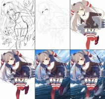 Ikou! drawing process by Riki-to