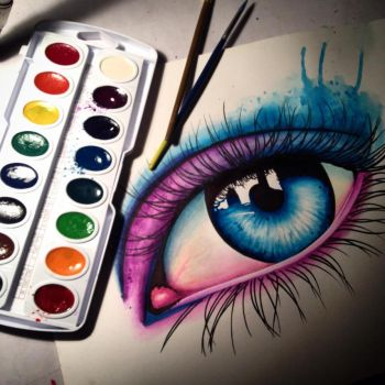 Progress shot of eye in progress by misscarissarose