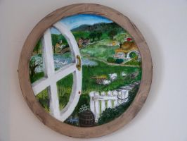 View from a Hobbit Hole by Rearda