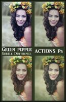 Green pepper  ACTIONS Ps by Tetelle-passion