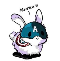 Captain America bunny by teralilac