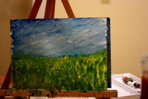 Landscape on Easel by Nat-photography