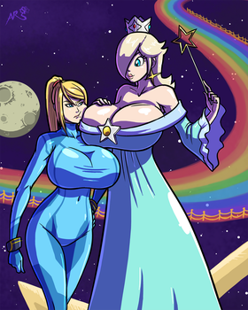 Super Smashing - Space Queens by Axel-Rosered