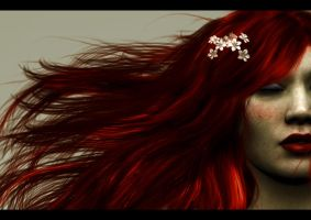 Flaming Red Hair by Everild-Wolfden
