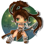 League of Legends Nidalee classic skin by HarukArt