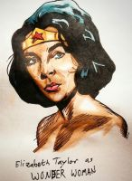 Elizabeth Taylor- Wonder Woman by stinson627