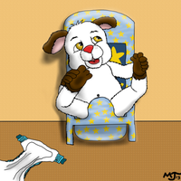 Pedro Puppy Practices Pottytime by BlazeHeartPanther
