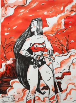 Wonder Woman InkTober 2016 01 Scuderi by Skudo
