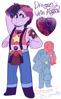 FT - (Steven/Bismuth) Dragon's Vein Agate by TheZodiacLord