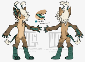 New Fursona Ref by Kaweki
