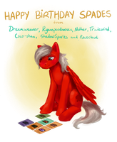 Pony Commission: Happy Birthday Spades by enigmatia