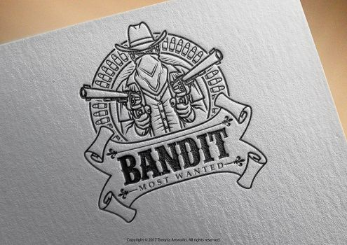 Bandit Mascot Logo by TrexycaArtworks