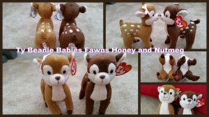 Ty Beanie Baby Fawns Honey and Nutmeg by Vesperwolfy87