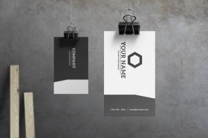 Slate - Modern Business Card by macrochromatic