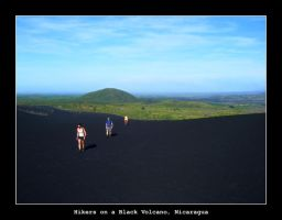 Hikers on a Black Volcano by samtihen