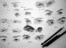 A Game of Eyes - sketch collection by schizophrenicstar