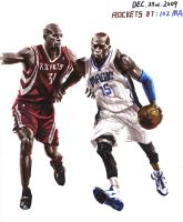 Battier and Carter by A-BB