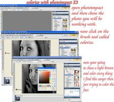 colorize tutorial, photoimpact by ceciliay