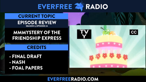 Redesigned EverFree Radio Podcast splash screen by Charleston-and-Itchy
