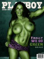 Playboy Cover - She Hulk by LograySon