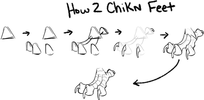 How 2 Chicken feet by LilKyubee