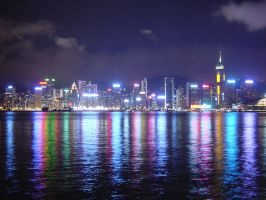 hk night view 2 by darksidehk