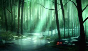 Forest speedpaint by JonathanMacgregor