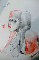 Harley Quinn 2 Expocomic Madrid sketch by elena-casagrande