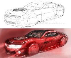 car sketch by BlackAssassiN999