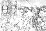 SHOGUN KNIGHT DYSON V - Wraparound Cover pencils by NicolasRGiacondino