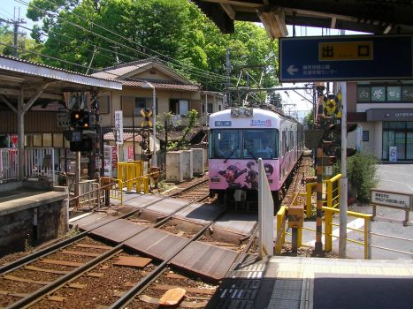 Pink Anime Train by OnlyTheGhosts