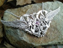 Cathedral of Wings Pendant 2 by ArtByStarlaMoore