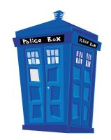 TARDIS cartoon by Ashley3d
