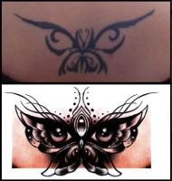 Butterfly eyes cover up design by thirteen7s