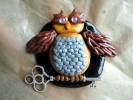 Art Crossing #2 Owl Hanging Ornament by Lucky101212