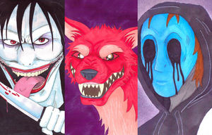 Creepypasta Wallpaper by izzynoodles