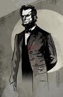 Abraham Lincoln Vampire Hunter by CartoonCaveman