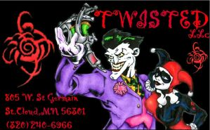 My old business card by Twistedink