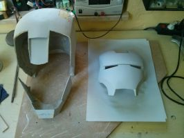 Taking the helmet back apart and of course sanding by cri7e
