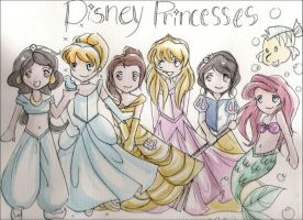 disney princesses by neKoIzuMi