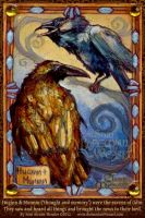 Odin's Ravens by BohemianWeasel