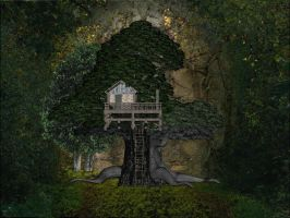 Forest Tree House by mysticmorning