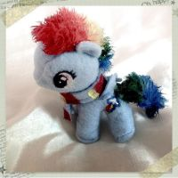 Winter Baby rainbowdash plush by KawaiiPetitPois