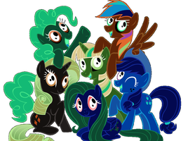 The inverted mane 6 by Fullmoonrose7